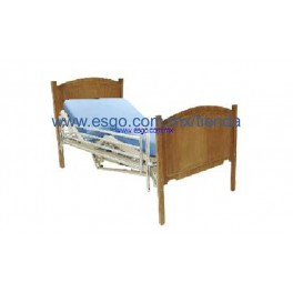 Cama hospitalaria con cabecera de madera for Camas con dosel de madera