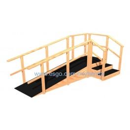 Escalera de 3 pelda os y rampa angular de madera adulto infantil esgo en l nea - Peldanos de madera para escalera precios ...