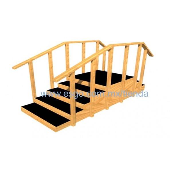 Escalera recta con 3 y 5 pelda os esgo en l nea for Escaleras 5 peldanos